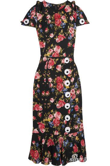 Dolce & Gabbana 花卉印花真丝连衣裙 约¥23885