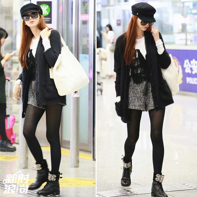 林志玲机场长腿造型
