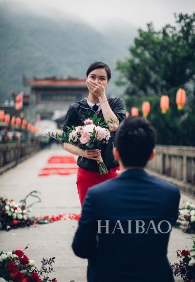 吴敏霞和老公 求婚照