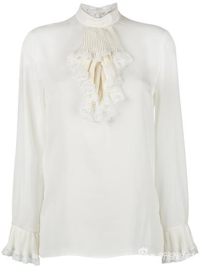 Gucci 蕾丝边饰罩衫 约¥13009