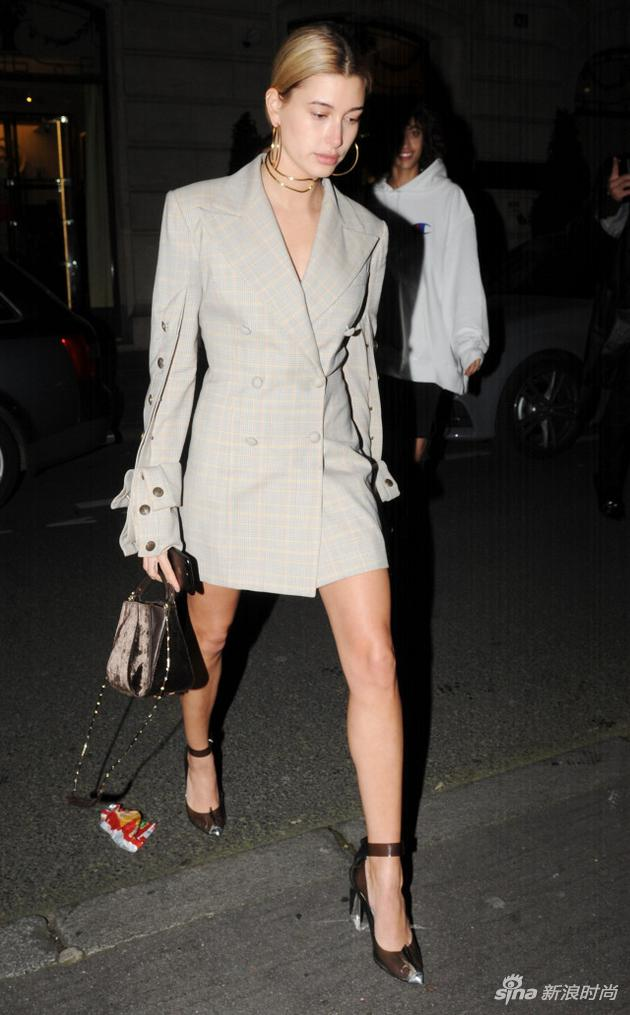 Hailey Baldwin in YProject dress
