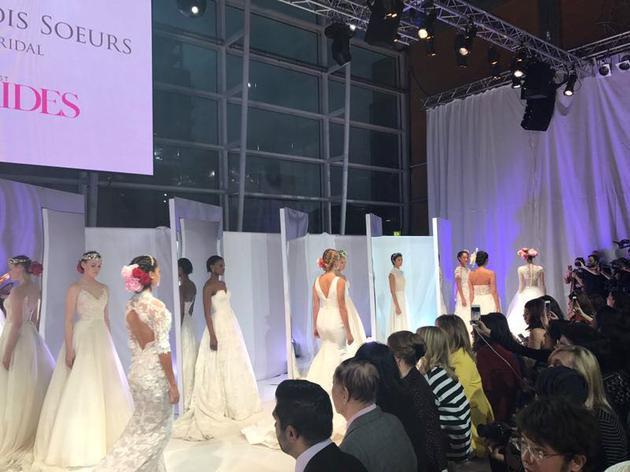 英国伦敦2017首届金丝雀码头奢侈品婚纱秀活动现场
