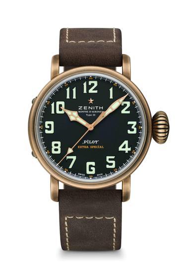 真力时飞行员Type 20青铜腕表