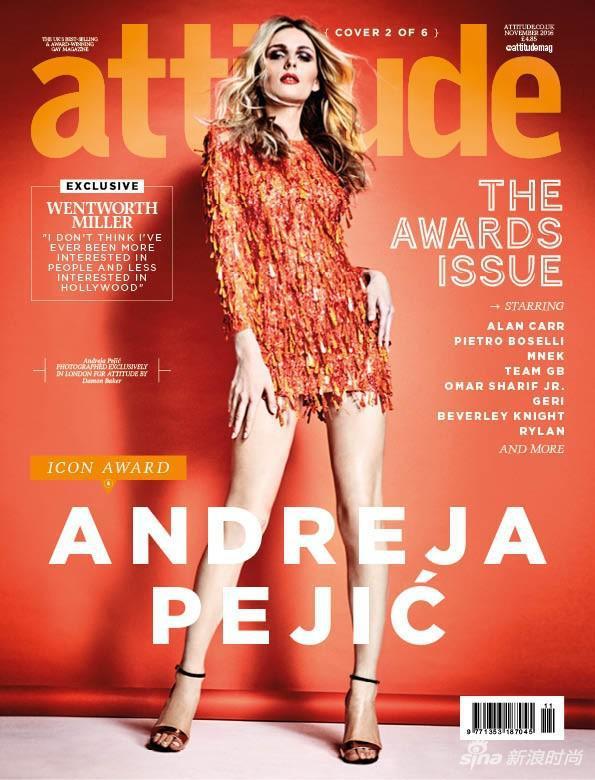 ASHISH占据英国《ATTITUDE》杂志封面