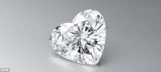 曾经的霸主,现在退居二线的56.15克拉的心形钻石