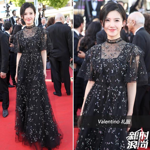 杨子姗穿黑色礼服