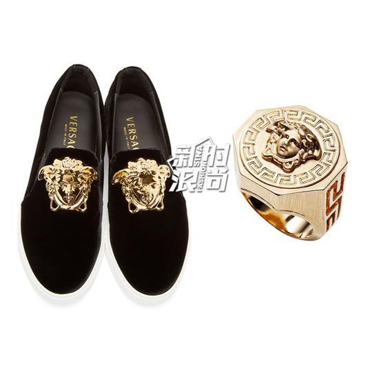 范思哲金也运用到鞋子和配饰中