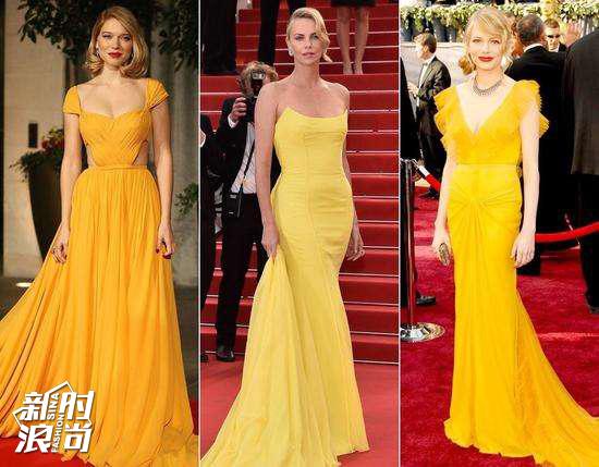 右一的明黄色还是最显白的