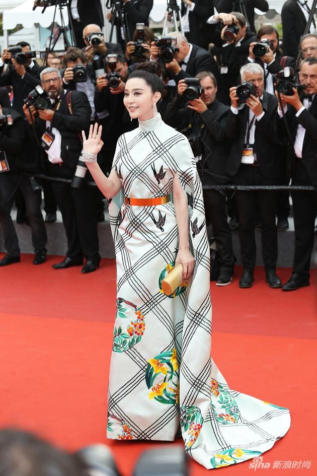 范冰冰出席第70屆戛納電影節《雙面情人》首映紅毯