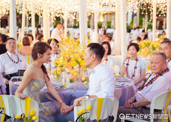 安以轩和澳门富商陈荣炼婚礼迎宾晚宴