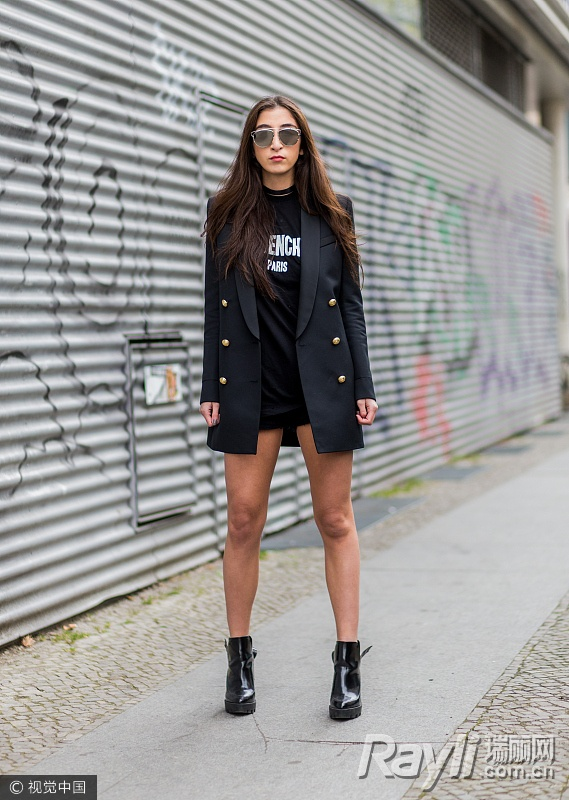 关关江疏影的时尚秘籍 西装搭热裤是标配 服饰潮流 图15