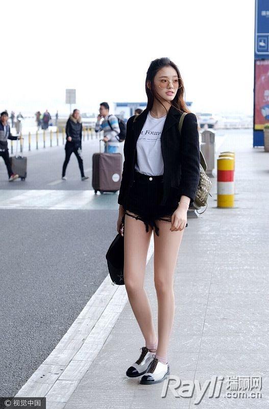 关关江疏影的时尚秘籍 西装搭热裤是标配 服饰潮流 图4