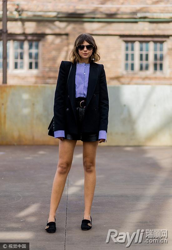 关关江疏影的时尚秘籍 西装搭热裤是标配 服饰潮流 图18