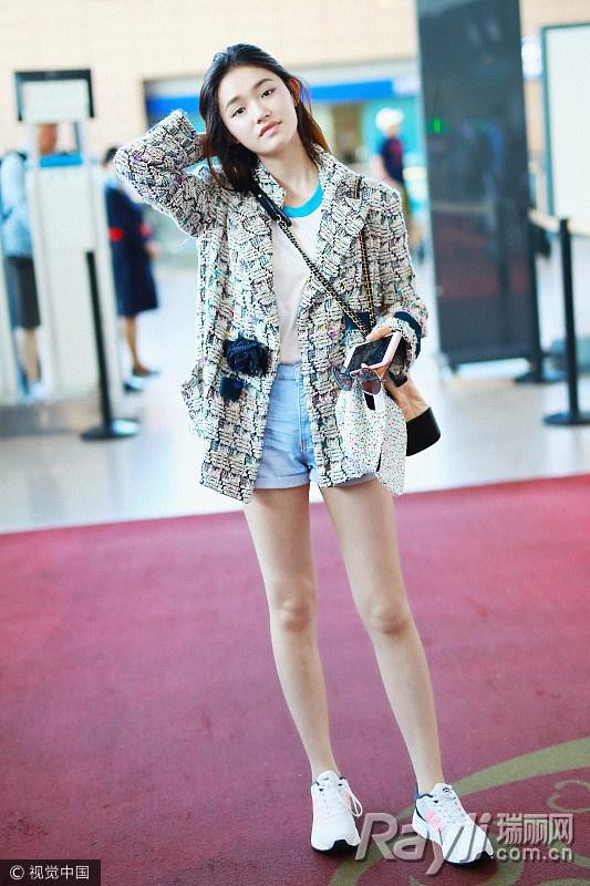 关关江疏影的时尚秘籍 西装搭热裤是标配 服饰潮流 图5