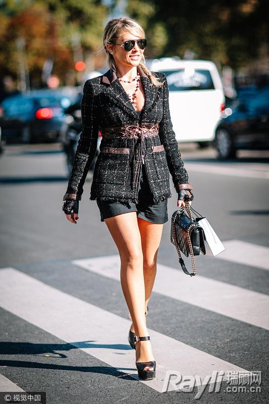 关关江疏影的时尚秘籍 西装搭热裤是标配 服饰潮流 图13