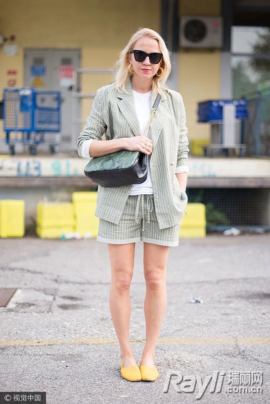 关关江疏影的时尚秘籍 西装搭热裤是标配 服饰潮流 图12