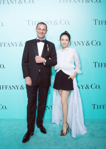 国际影星章子怡与蒂芙尼公司大中华区集团总裁乐康先生