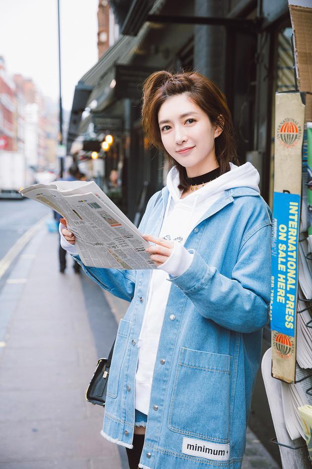 江疏影街拍写真大片曝光 潮流混搭时髦减龄 视觉美图 图5