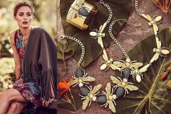 Olivia Palermo亲自为自己设计的珠宝当模特拍摄广告大片