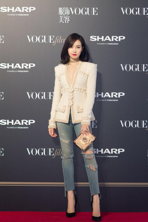 宋茜受邀出席VogueFilm首映派对