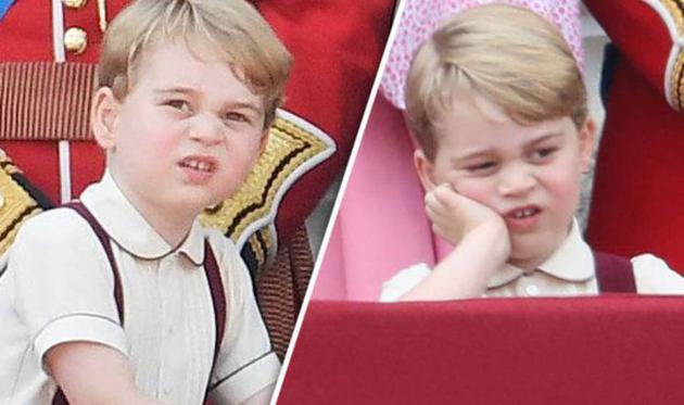 呆萌可愛的喬治小王子又為網友們貢獻了表情包