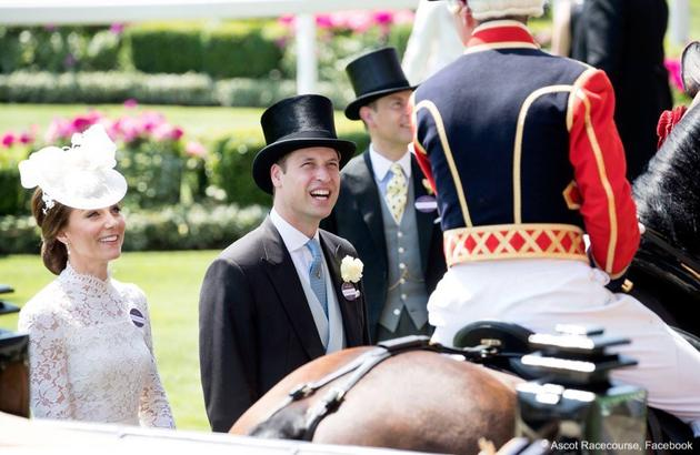 凯特王妃与威廉王子一同亮相