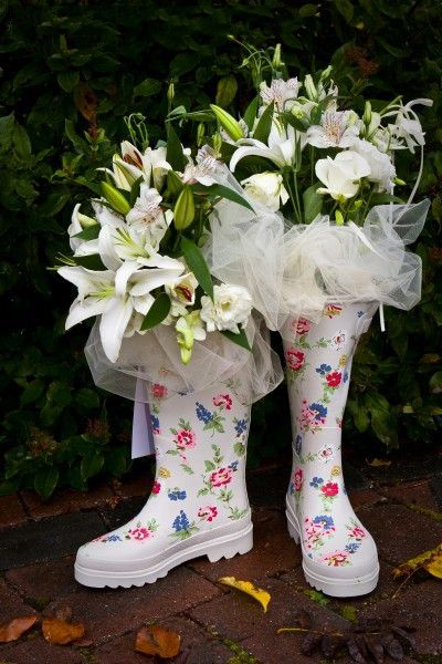 Cath Kidston印花雨靴