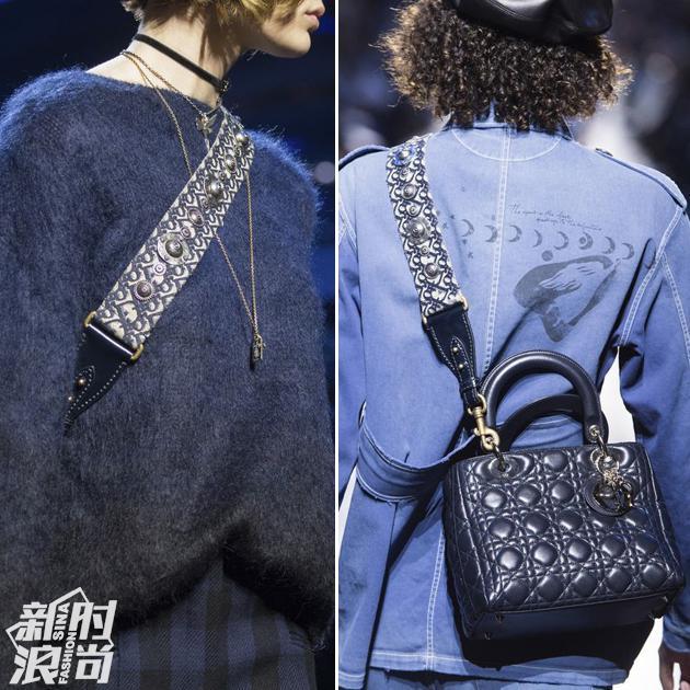 加入了宽肩带的Dior包包
