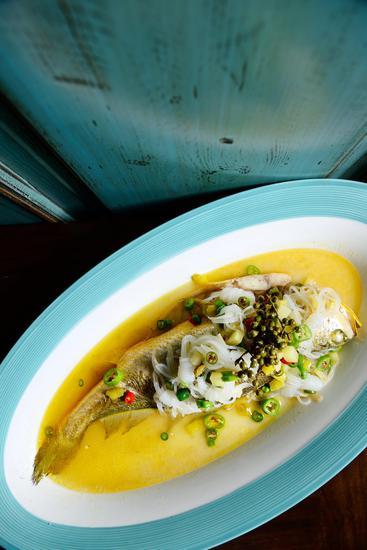 青椒麻香宁波黄鱼