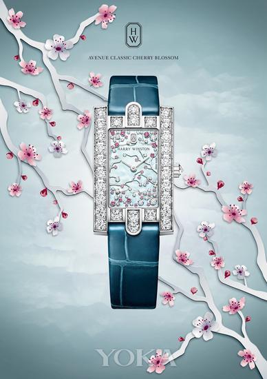 海瑞温斯顿Avenue Classic Cherry Blossom