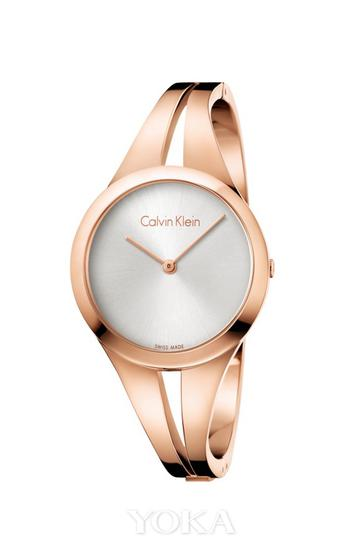 calvin klein addict 沉醉系列女士腕表 玫瑰金色,售价2500元。