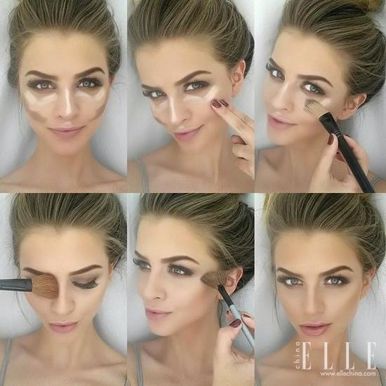 化妆即刻瘦脸术