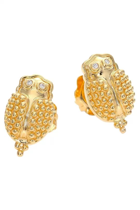 TEMPLE ST. CLAIR Scarab earrings $1,850