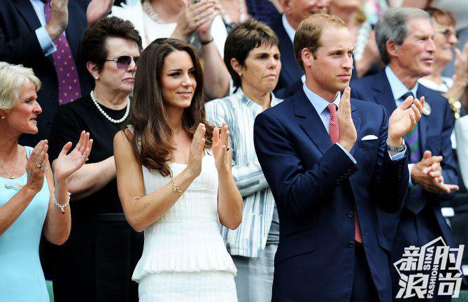 成为王妃后的凯特头一回现身温网