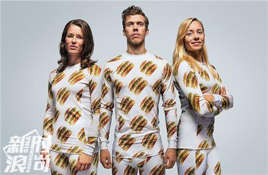 麦当劳巨无霸的睡衣套装