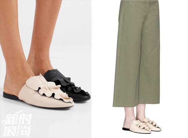 同色或是不同色的Mercedes Castillo平底鞋