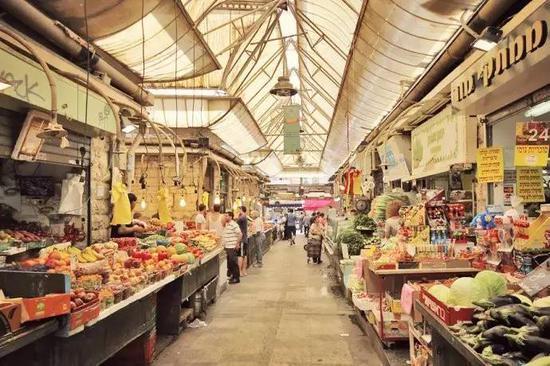 马哈内·耶胡达市场(图片来源:新浪博客)