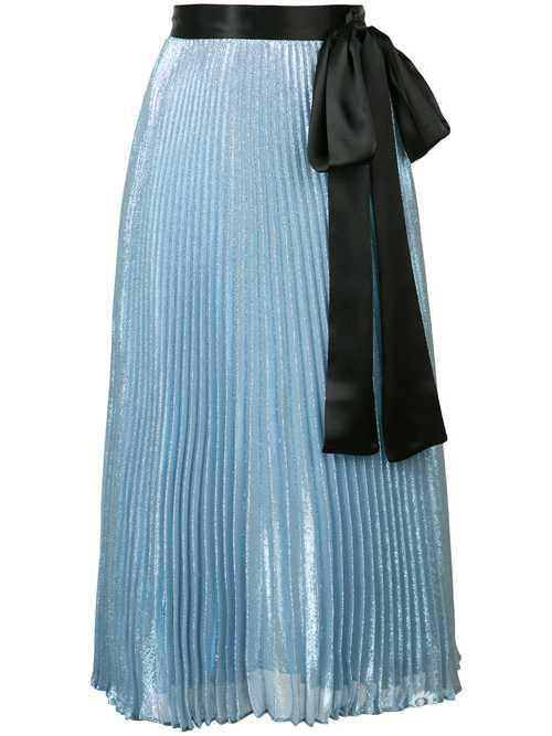 Christopher Kane金属感百褶束腰半身裙