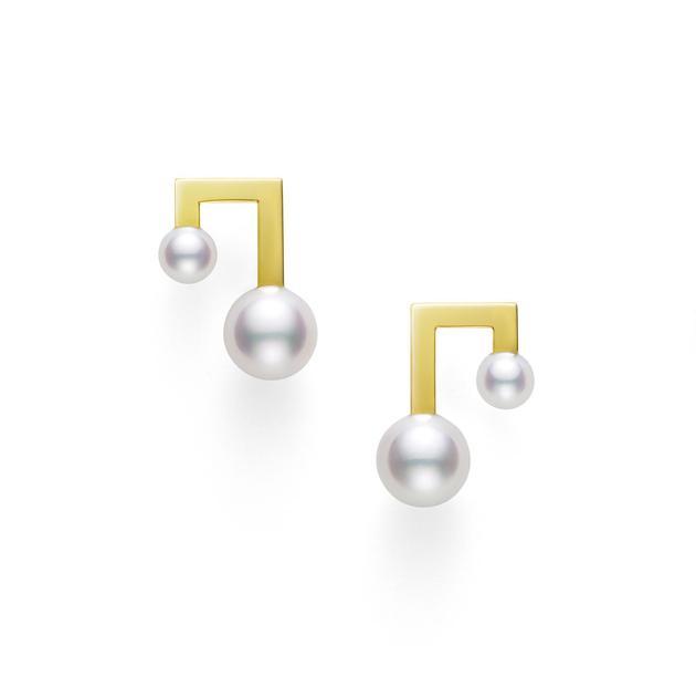 Tasaki balance note音符系列耳环