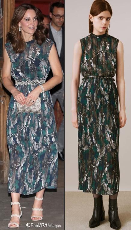 7月20日凯特出访德国时佩戴了戴妃的珍珠手镯