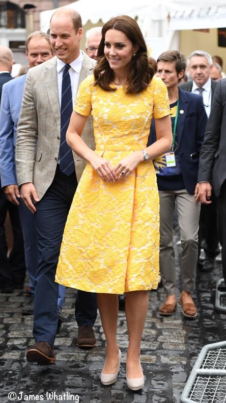 Jenny Packham黄色连衣裙