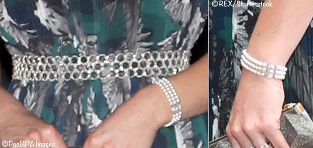 戴安娜王妃佩戴过的珍珠手镯