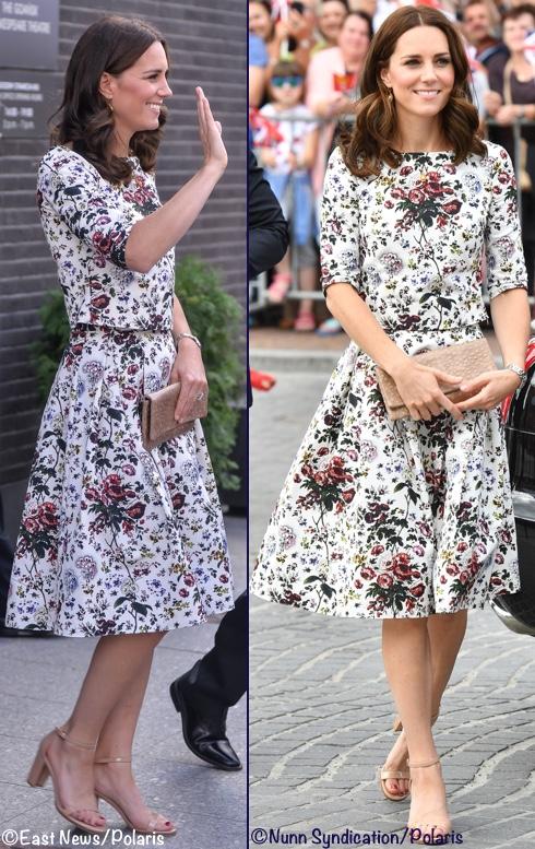 7月18日凯特穿着Erdem印花裙