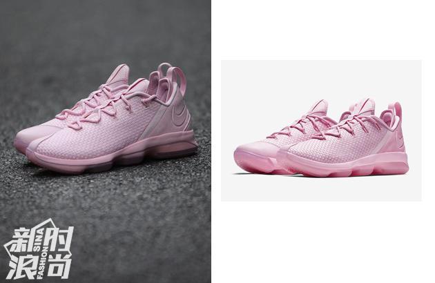 粉色的Nike lebron 14运动鞋