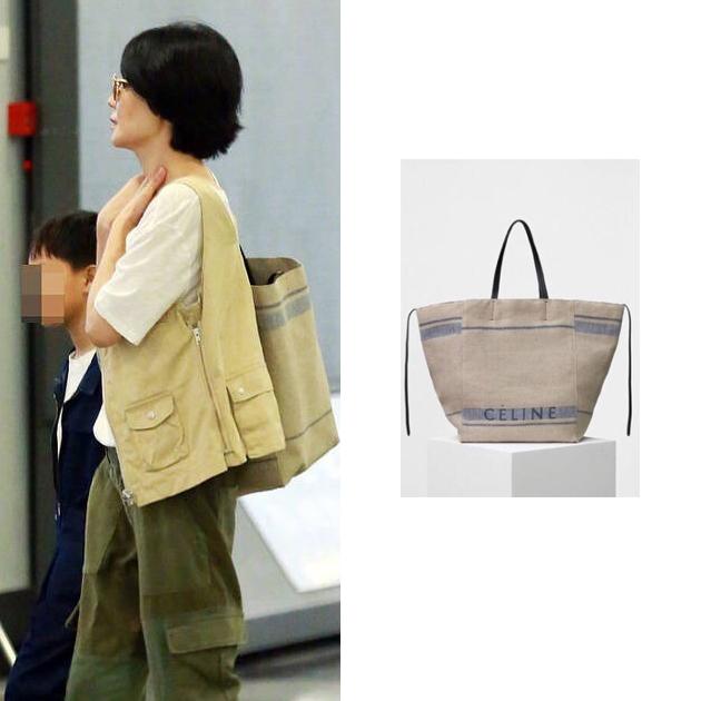 王菲背Celine帆布包