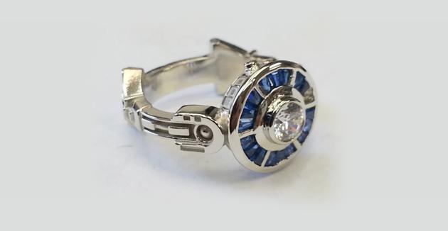 R2-D2为灵感的钻戒