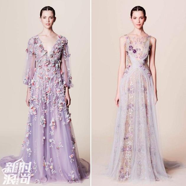 Marchesa藕荷紫色的仙女裙