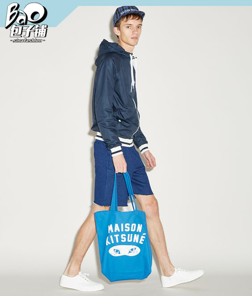 男生也可以背Maison Kitsune包包