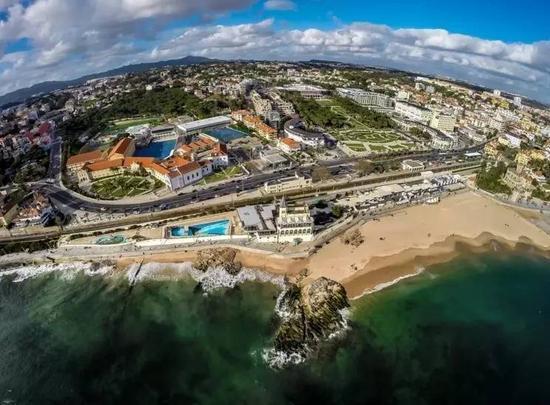 赌场Casino Estoril的俯瞰图