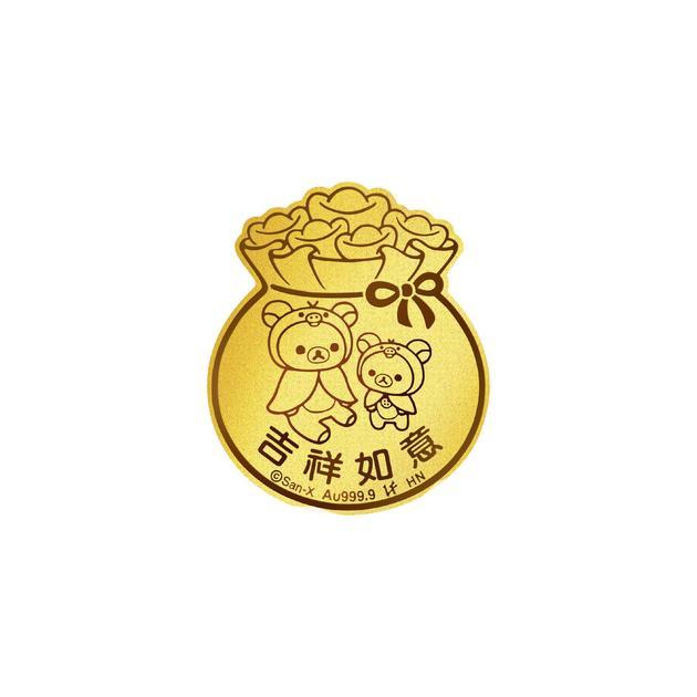 「六福珠宝足金金币」